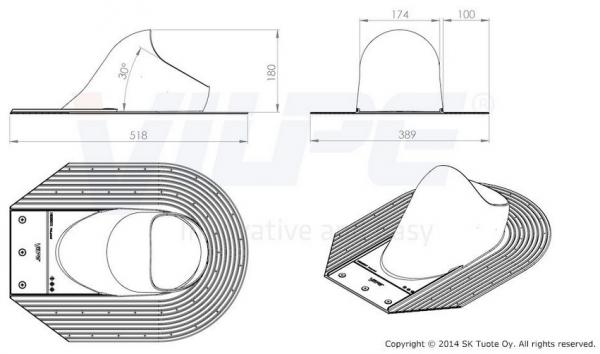 Afmetingen van de Shingle/Leisteen dakpan
